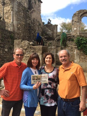 Melinda and David Wermager and Nancy and Randy VanOverbeke are Just Back From a self-planned trip to Portugal and Seville, Spain, in April and May. The group posed with the Times for their Just Back From photo in Evora, Portugal.