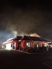 The McDonald's at 757 E. Cumberland St. in Lebanon is deemed a complete loss by Lebanon Fire Commissioner Duane Trautman after a grease fire started in the kitchen Friday night.