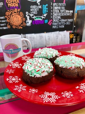 Hammer Donuts in West Lafayette offers a selection of holiday themed donuts.