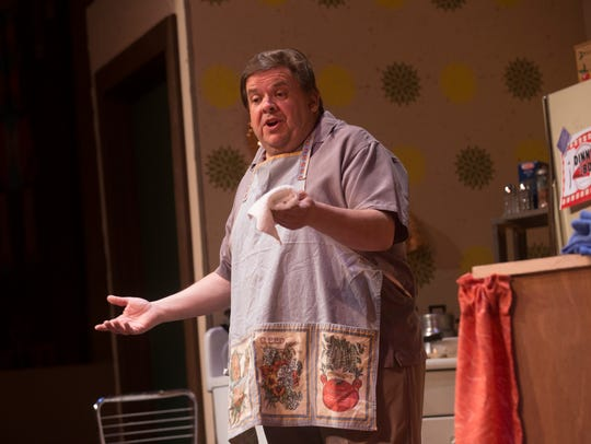 """Steve Borstein portrays Dominic in the Theater Ensemble Arts production of """"Dinner with the Boys"""" opening Friday at the Totah Theater in Farmington."""