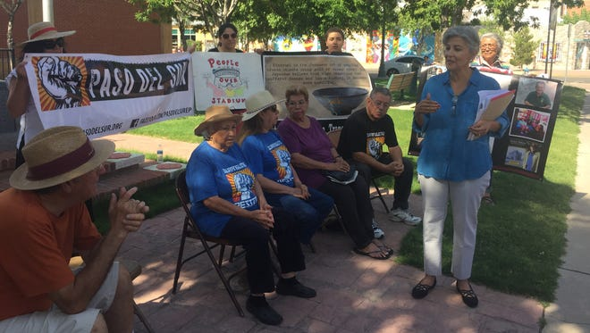 Carmen Rodriguez of Texas Rio Grande Legal Aid discusses a new petition from the Paso del Sur that will attempt to add a proposition to stop construction of a multipurpose arena Downtown and instead reallocate funds to a Mexican American cultural center.