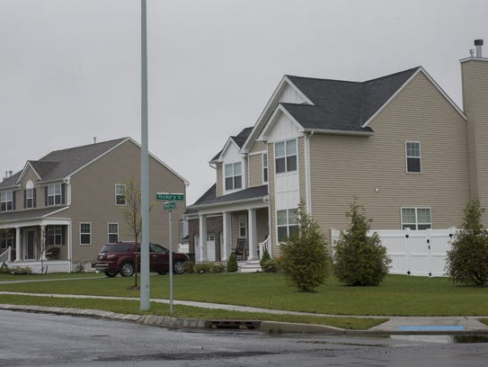 New homes in Toms River's North Dover section.