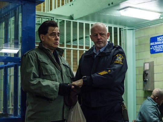 """Benicio Del Toro as Richard Matt and David Morse as Gene Palmer in """"Escape at Dannemora."""""""