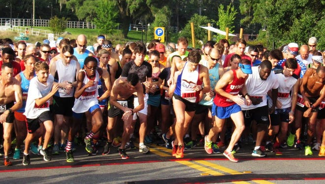 The Firecracker 5K takes off at 8 a.m. Wednesday at Cascades Park.