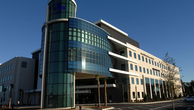 Sacred Heart Health System's  Cancer Center on Airport Boulevard.