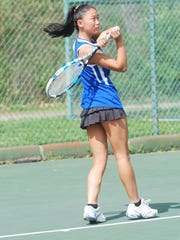 Rachel Hoffmann of Highlands during the 10th Region Tournament.