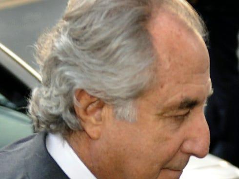 Wall Street financier Bernard Madoff arriving at federal court on March 12, 2009.