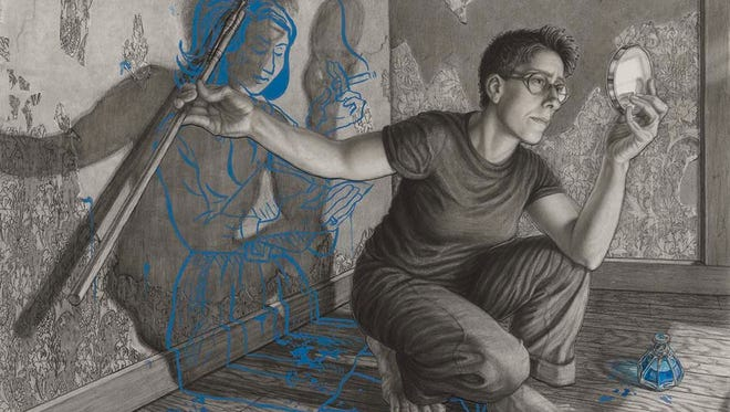 """""""Alison Bechdel"""" by Riva Lehrer is part of The Outwin 2016 exhibit on display at the Art Museum of South Texas."""