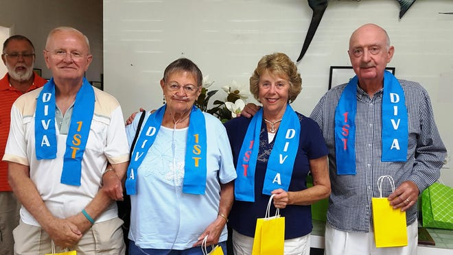 Taking first place in Isles of Capri 2016 Winter Bocce League in Division A is the Island Breeze, from left, Capt. Gene Brady and Kay Brady, Ann and Eddie Hall.