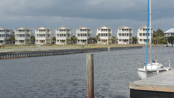 Waterfront residences in Shell Point.
