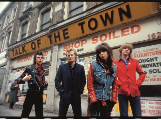 The Pretenders in 1980. After the deaths of original bassist Pete Farndon, far left, and guitarist James Honeyman-Scott, far right, lead singer Chrissie Hynde and drummer Martin Chambers rebuilt the band.