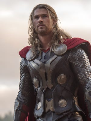"""Chris Hemsworth starred in """"""""Marvel's Thor: The Dark World"""" in 2013. Hemsworth  returns  — with a haircut  — in """"Thor: Ragnarok,"""" which opens in November."""