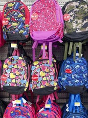 Back to school items fill stocked shelves at Wal-Mart in Ankeny Tuesday, Aug. 4, 2015.