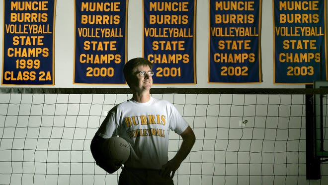 Steve Shondell coached four national championship volleyball teams at Muncie Burris, including the 1997 squad that was perhaps the best in state history. (2005 file photo)