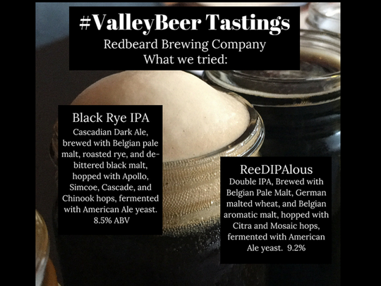 Redbeard Brewing Company's offerings for our judges.
