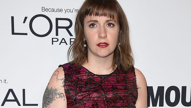 Lena Dunham arrives at the Glamour Women of the Year Awards on Nov. 14  at NeueHouse Hollywood in Los Angeles.