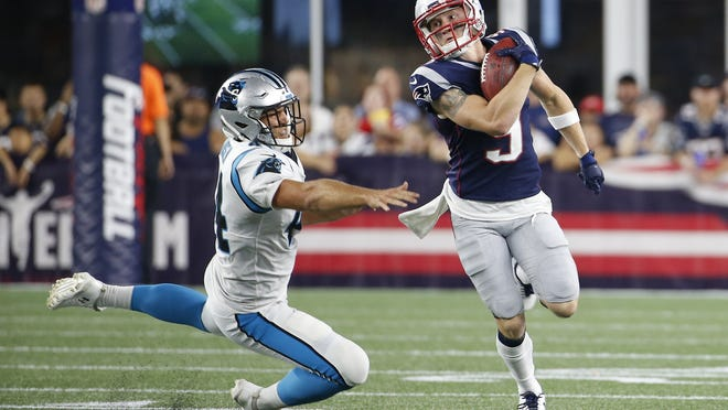 Gunner Olszewski earned his spot on last year's Patriots roster by his performance in preseason games.