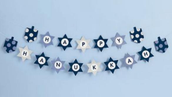 Happy Hanukkah Garland