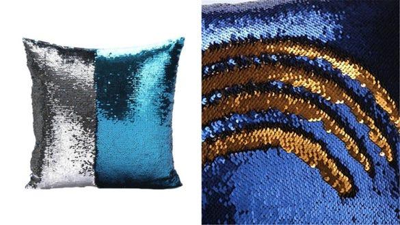 OrliverHL Reversible Mermaid Pillow