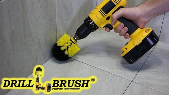 Drill Brush Bathroom Surfaces Cleaning Kit