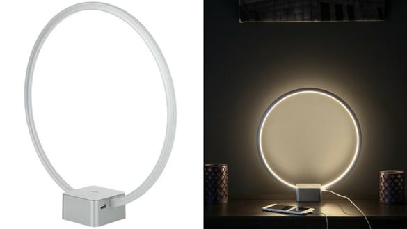 Circular Nightstand Lamp