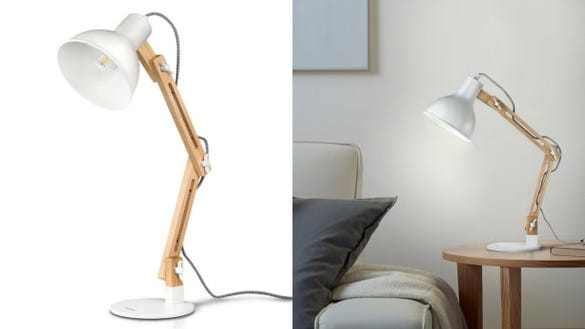 Wood Swing Arm Lamp