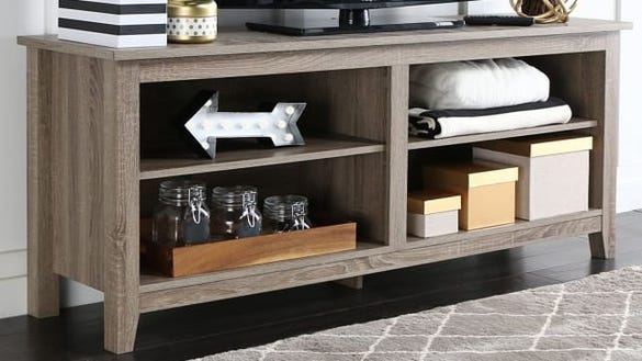 """WE Furniture 58"""" Wood TV Stand Storage Console"""