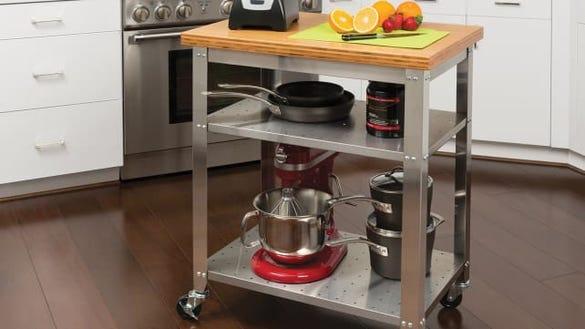 Seville Classics Stainless Steel Kitchen Cart