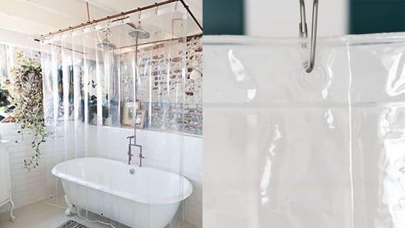 LiBa Mildew-Resistant Anti-Bacterial Shower Curtain Liner