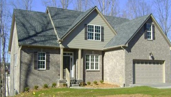 This new four-bedroom home is is in the Braxton Bend neighborhood in Fairview.