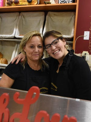 Monica Lorca, 53, left, owner of Los Hornitos Bakery and Cafe in Wappingers Falls, with her daughter Alexandra Lorca, 22.