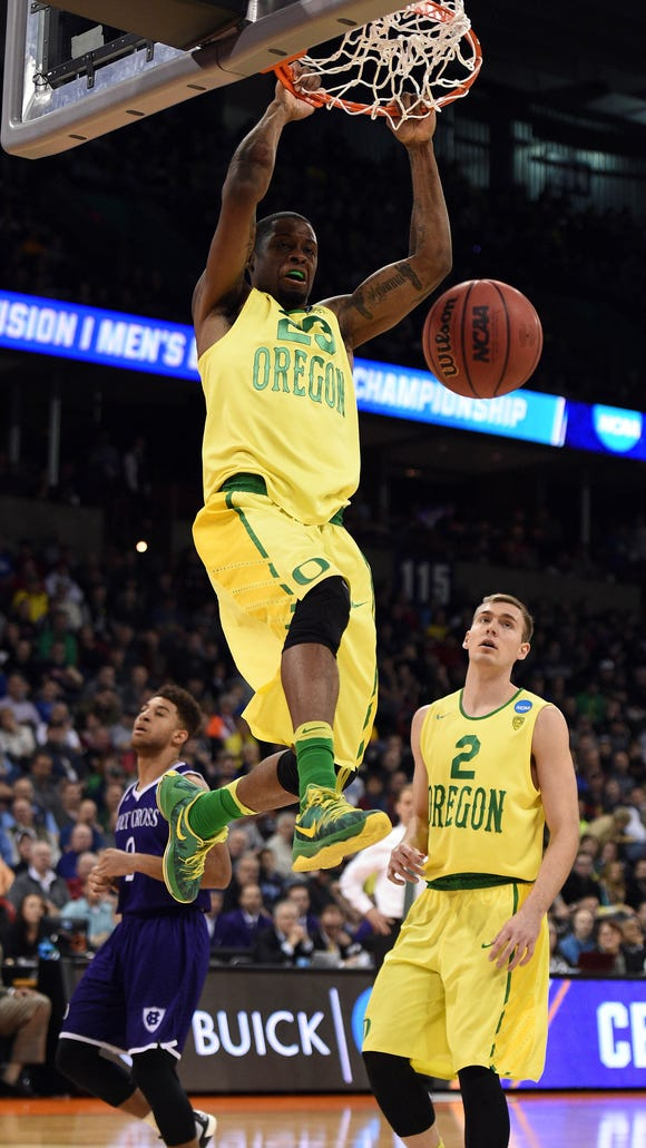 March 18, 2016; Spokane , WA, USA; Oregon Ducks forward