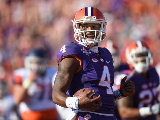 Deshaun Watson scores an early touchdown to set the tone for a 54-0 rout of Syracuse last November.