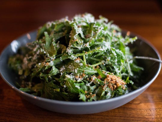 The Kale Ceasar Salad is one of the featured dishes