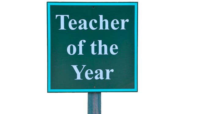 Teacher of the Year parking sign