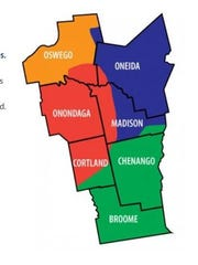 These are the seven counties under the Syracuse Diocese.