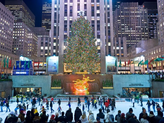 The iconic Rink at Rockefeller Center in New York was