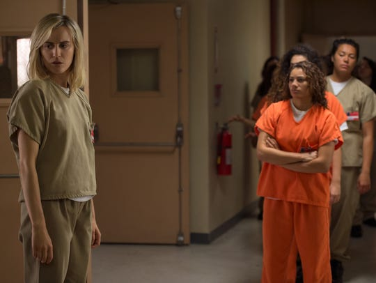 Taylor Schilling returns to 'Orange Is The New Black.'