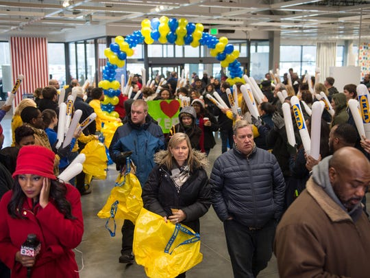 December 14, 2016 - Shoppers crowd inside of the IKEA Memphis store during an event marking the grand opening of the home furnishing retailer's new location. (Brandon Dill/Special to The Commercial Appeal)