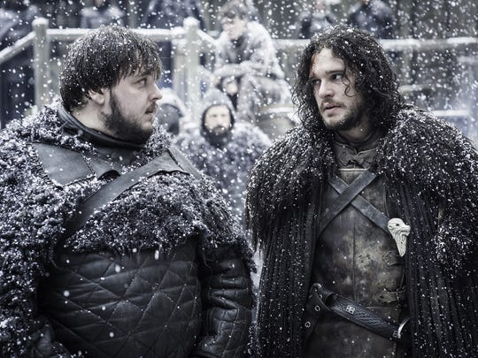 Samwell Tarly (John Bradley), left, wants to reunite