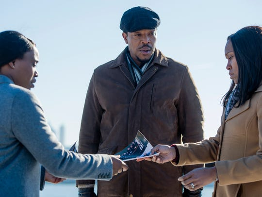 Clare-Hope Ashitey, Russell Hornsby and Regina King