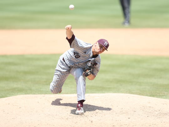 JP France gave Mississippi State seven innings in a dominant start on Monday against Oklahoma.