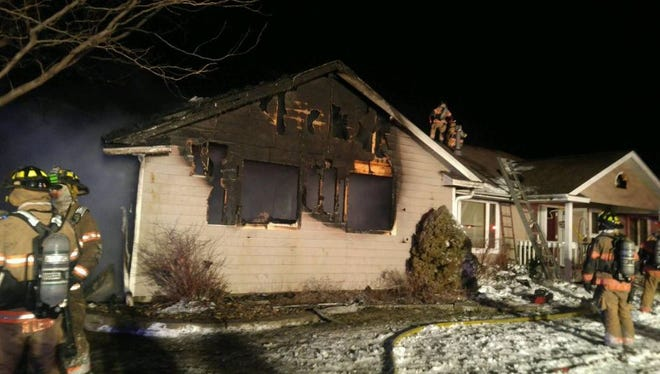 Crews responded to a house fire in western Sioux Falls on Wednesday night.