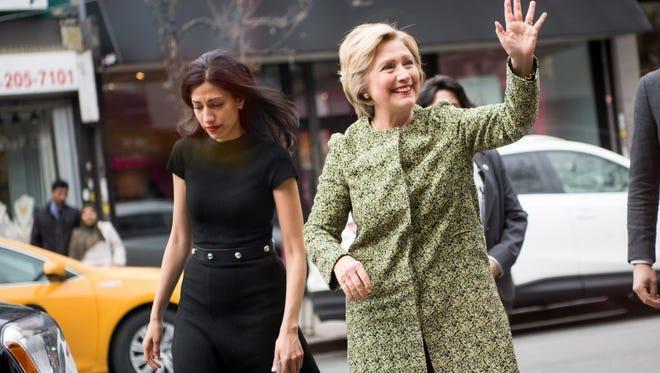 Huma Abedin and Hillary Clinton.