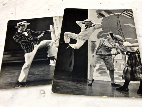 Photographs depict Geoffrey Webb's earlier years as a stage and television actor. Due to Parkinson's disease, Webb has suffered loss of control over movement as well as flexibility and is no longer able to dance.