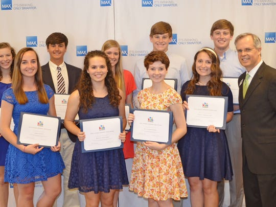 Ten central Alabama high school seniors received scholarships from the MAX4Kids program.
