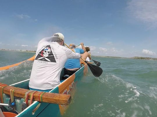 Lokahi Outrigger canoe paddling club launches out of Port Canaveral and into the open ocean for group paddles a few times a month.