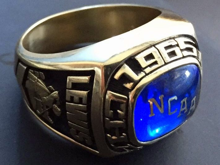 MTSU athletic department officials had this replica of a 1965 NCAA Division II golf championship ring made to replace one owned by Trey Lewis, the son of the late Dan Lewis who was a member of the team. which was stolen.