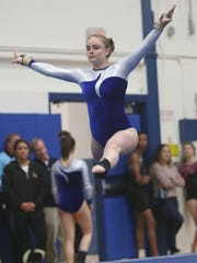 Mahopac's Sydney Hughes competes in the floor exercise