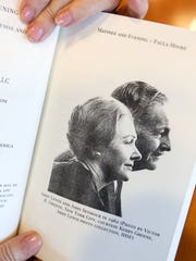 "A profile photo of Abby Lewis and John Seymour in 1962 by Victor Greene, courtesy Kerry Green, as pictured in the book ""Matinee and Evening: The story of Actors Abby Lewis and John Seymour"" by Paula Moore."
